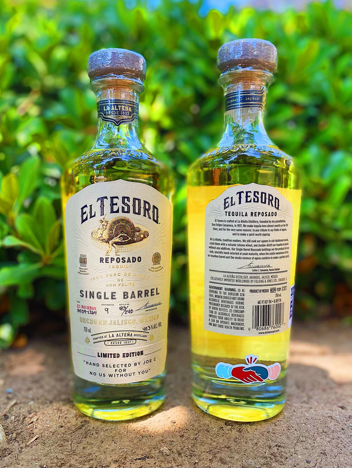 El Tesoro Single Barrel Reposado Tequila Hand Selected by Joe C for No Us Without You
