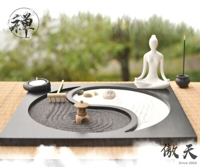 日式禪意陰陽沙盤 | Japanese Zen-style Yin Yang Incense Sand Table