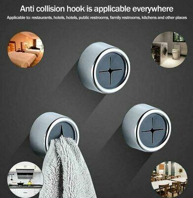 壓入式毛巾掛鉤(4個入) | Push In Towel Holder