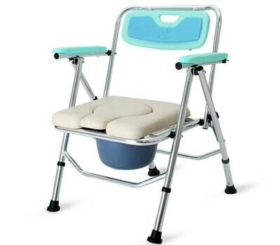 鋁合金摺疊式坐便椅 | Aluminum Foldable Commode Chair