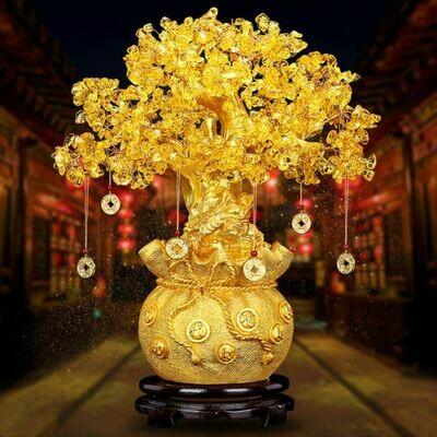 黃水晶招財樹