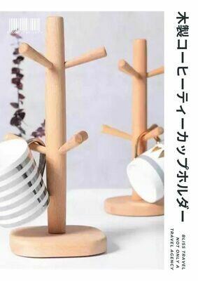 日式木製六爪杯架 | 6本爪カップホルダー
