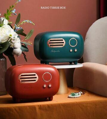 復古收音機型紙巾盒 | Retro Radio Shape Tissue Box