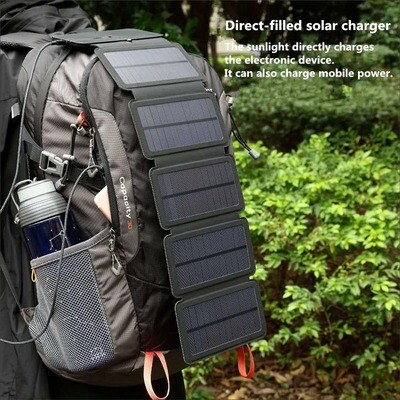 10W太陽能移動充電板(不含電池) | 10W SunPower Folding Solar Cells Charger
