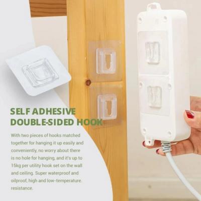 強力無痕防水掛鉤(10對入)   Self Adhesive Double-sided Hook (10 Pairs/Set)