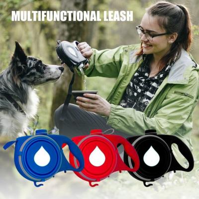4合1狗狗拖帶(付設摺疊碗)   4 In 1 Dog Leash with Built-in Water Bottle Bowl