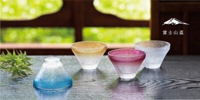 富士山四季清酒杯(4個入)   富士山四季の盃
