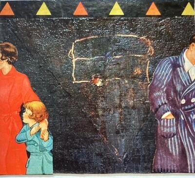 Michael Blaha large matted collage