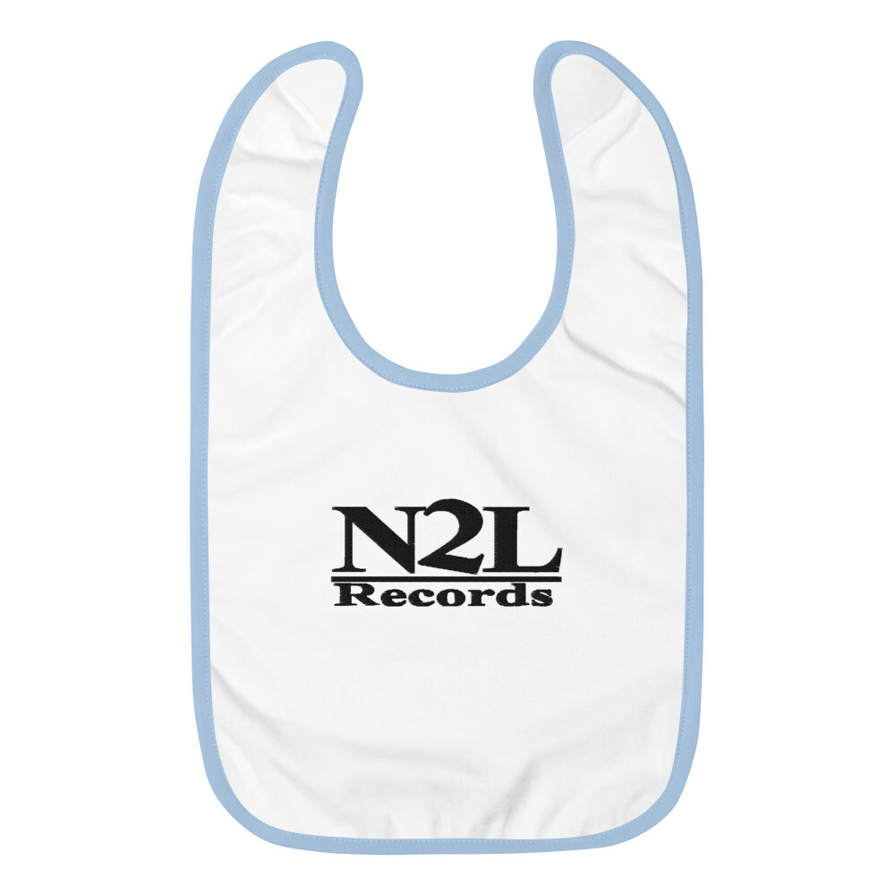 N2L RECORDS Embroidered Baby Bib