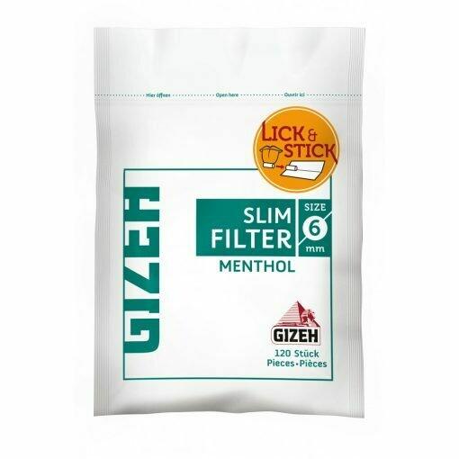 GIZEH SLIM FILTER 6mm MENTHOL