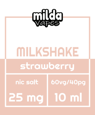 Milda Salt - Milkshake strawberry