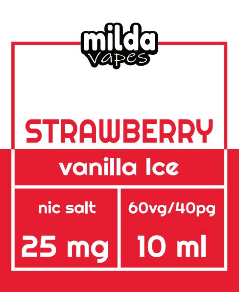 Milda Salt - Strawberry Vanilla Ice
