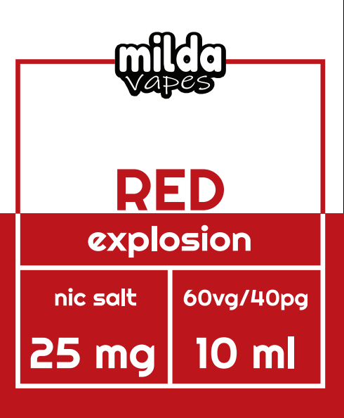 Milda Salt - Red Explosion