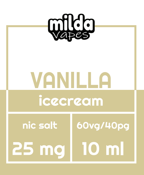 Milda Salt - Vanilla Ice Cream