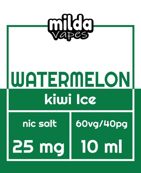 Milda Salt - Watermelon Kiwi Ice