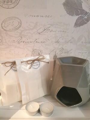 Aspen Grey Wax Burner Set