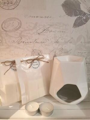 Aspen White Wax Burner Set