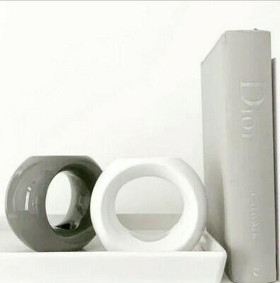 Oslo White Wax Burner Set