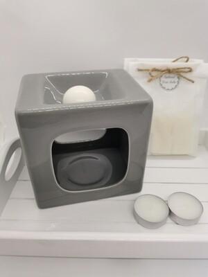 Talin Grey Wax Burner Set