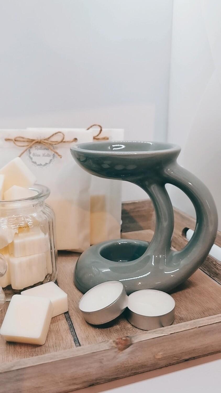 Bali Grey Wax Burner Set