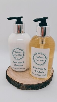 Lime Basil & Mandarin Luxury Hand Wash and Hand Cream Set