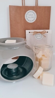 Sofia Groove Grey Wax Burner Set