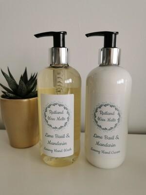 Lime Basil & Mandarin Luxury Hand Wash and Hand Cream Set