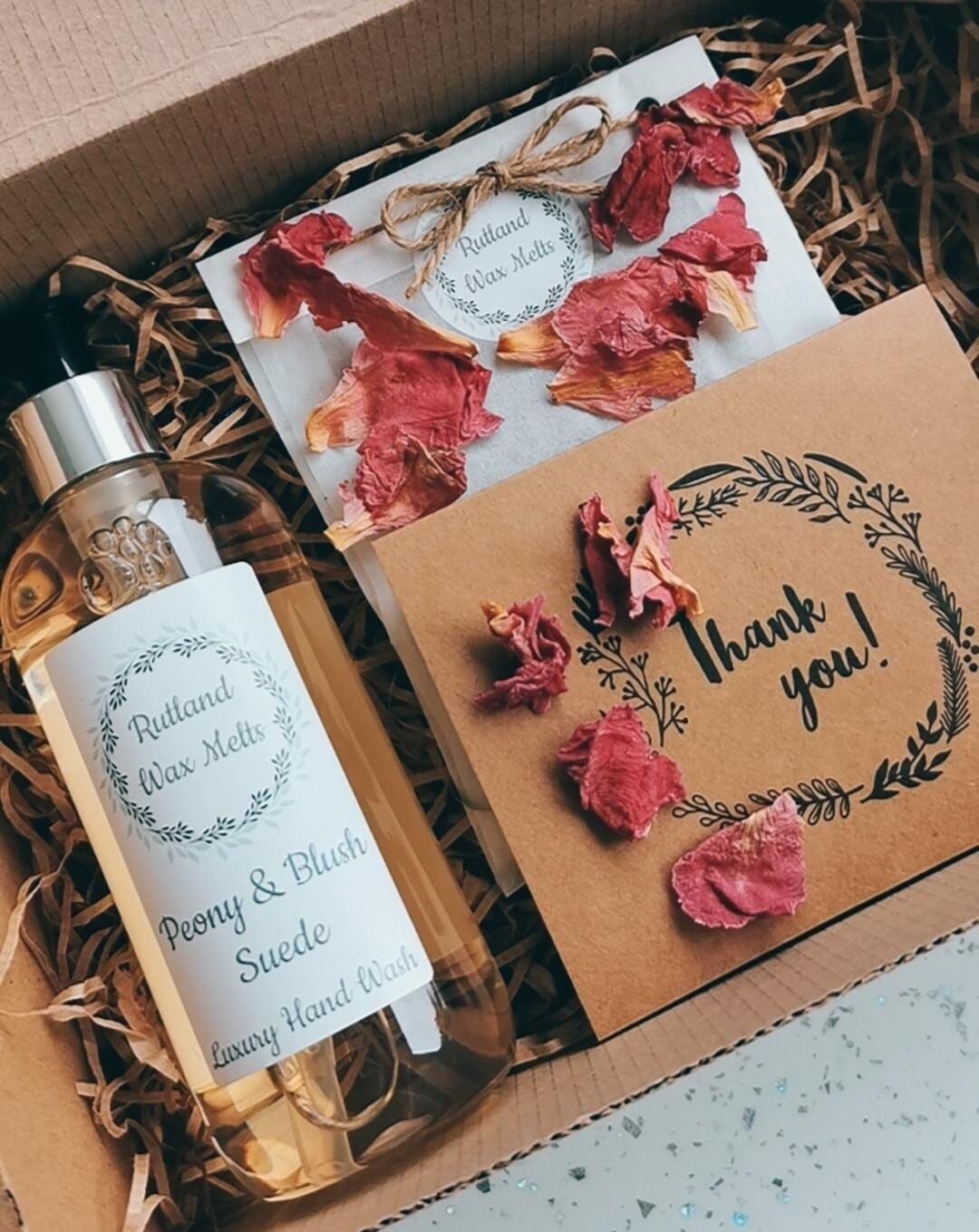 Peony & Blush Suede Gift Set