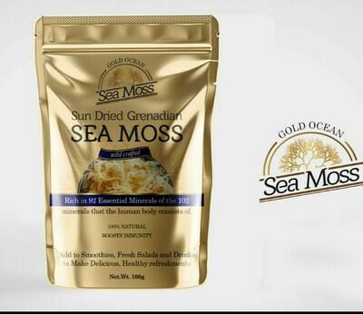 Wildcrafted Grenadian Sea Moss 1Kg  unbranded packaging