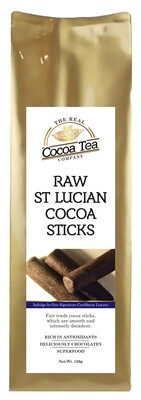 The Real Cocoa Tea Company  St Lucian Luxury Cocoa Sticks 150g.