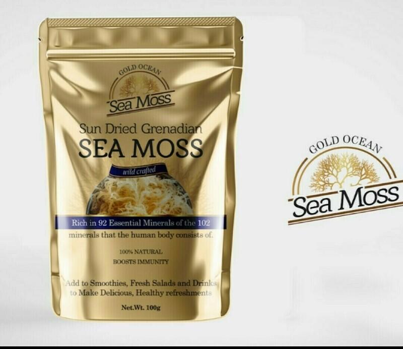 Gold Ocean Sea Moss Wildcrafted Grenadian Sea Moss 1KG