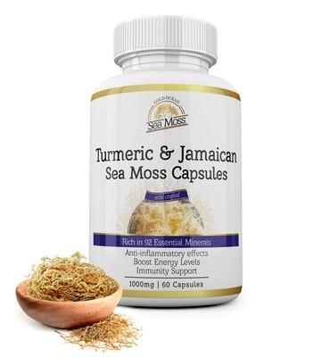 Indian Turmeric & Jamaican Gold Sea Moss Capsules x 60