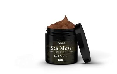 EXFOLIARE exfoliating Pink Himalayan salt sea moss scrub