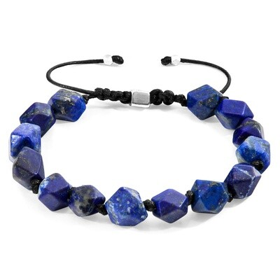 Blue Lapis Lazuli Zebedee Silver and Stone Beaded