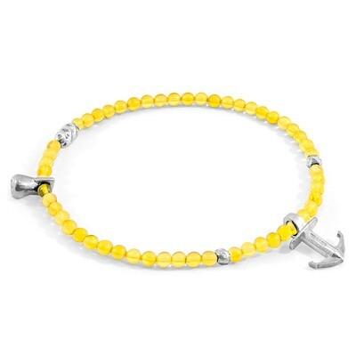 Yellow Amber Tropic Silver & Stone Bracelet