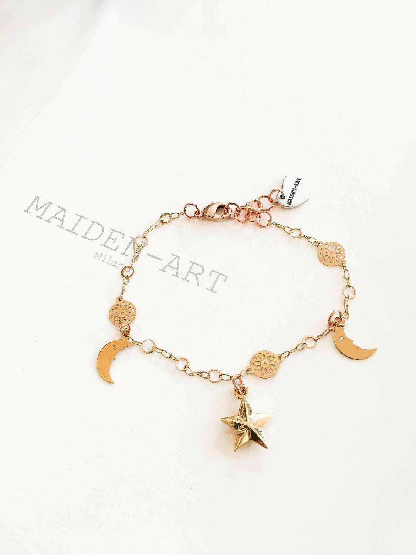 Gold Star Bracelet, Charm Bracelets, Bracelets for Women.