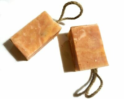 Citrus Blossom, Cold Process Soap on a rope