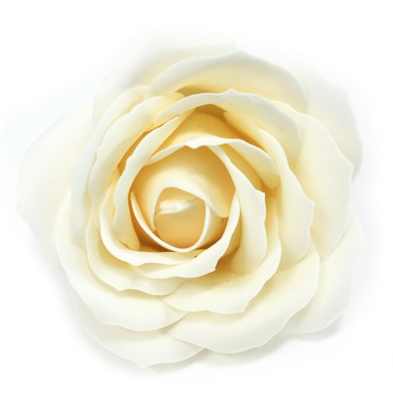 Craft Soap Flowers soap  - Lrg Rose - Ivory