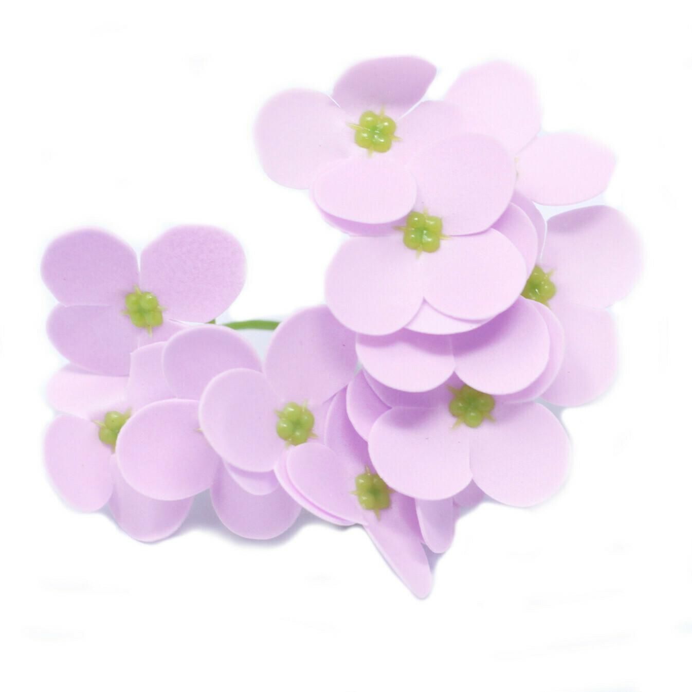 Craft Soap Flowers - Hyacinth Bean - Lavender soap