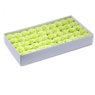 Craft Soap Flowers - Carnations - Lime