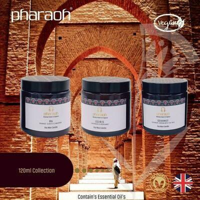 Organic SPA Essentials Soy Candle Sekhmet 120ml (Lavender Geranium Tea