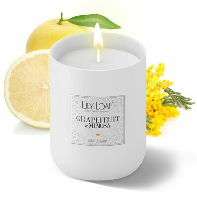 Grapefruit and Mimosa Soy Wax Candle