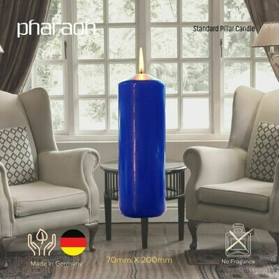 Blue Pillar Occasional Candle 70mm X 200mm