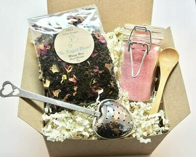 Mango Rose Tea and Sugar Gift Set, Lavender and Rose Sugar