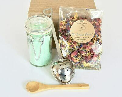 Mint Tea Gift Set with Peppermint Floral Tea