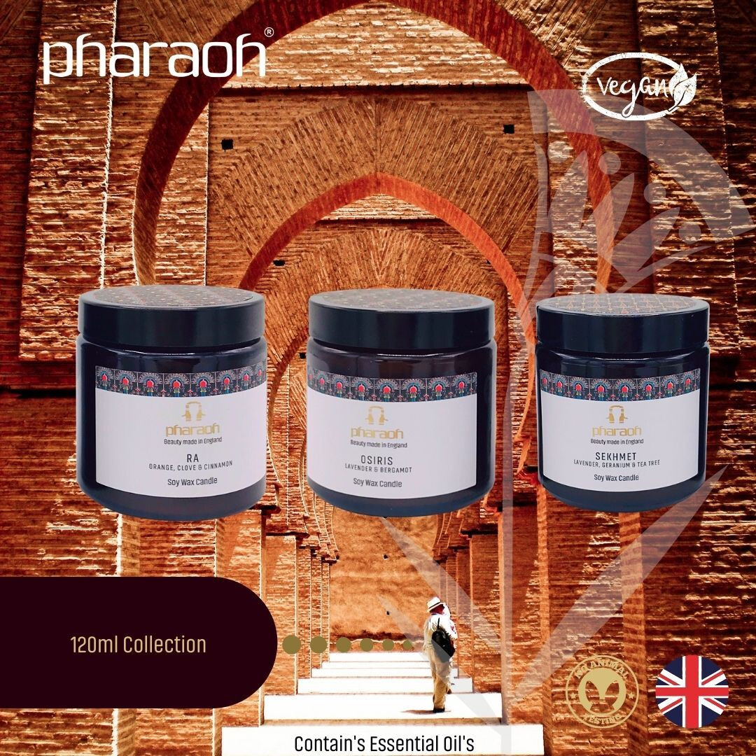 Organic SPA Essentials Soy Wax Candle Collection 3 x 120ml