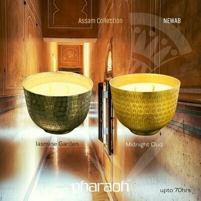 Newab Assam Double Wick Candle Collection