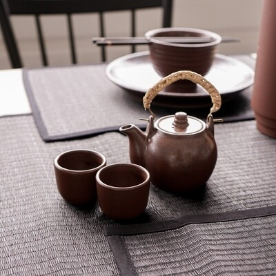 Handmade Teapot Set with 2 Cups