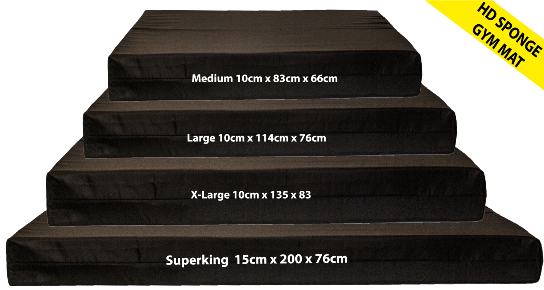 Gymnastics Gym Crash Landing fitness Mat Black 10cm High Density Foam