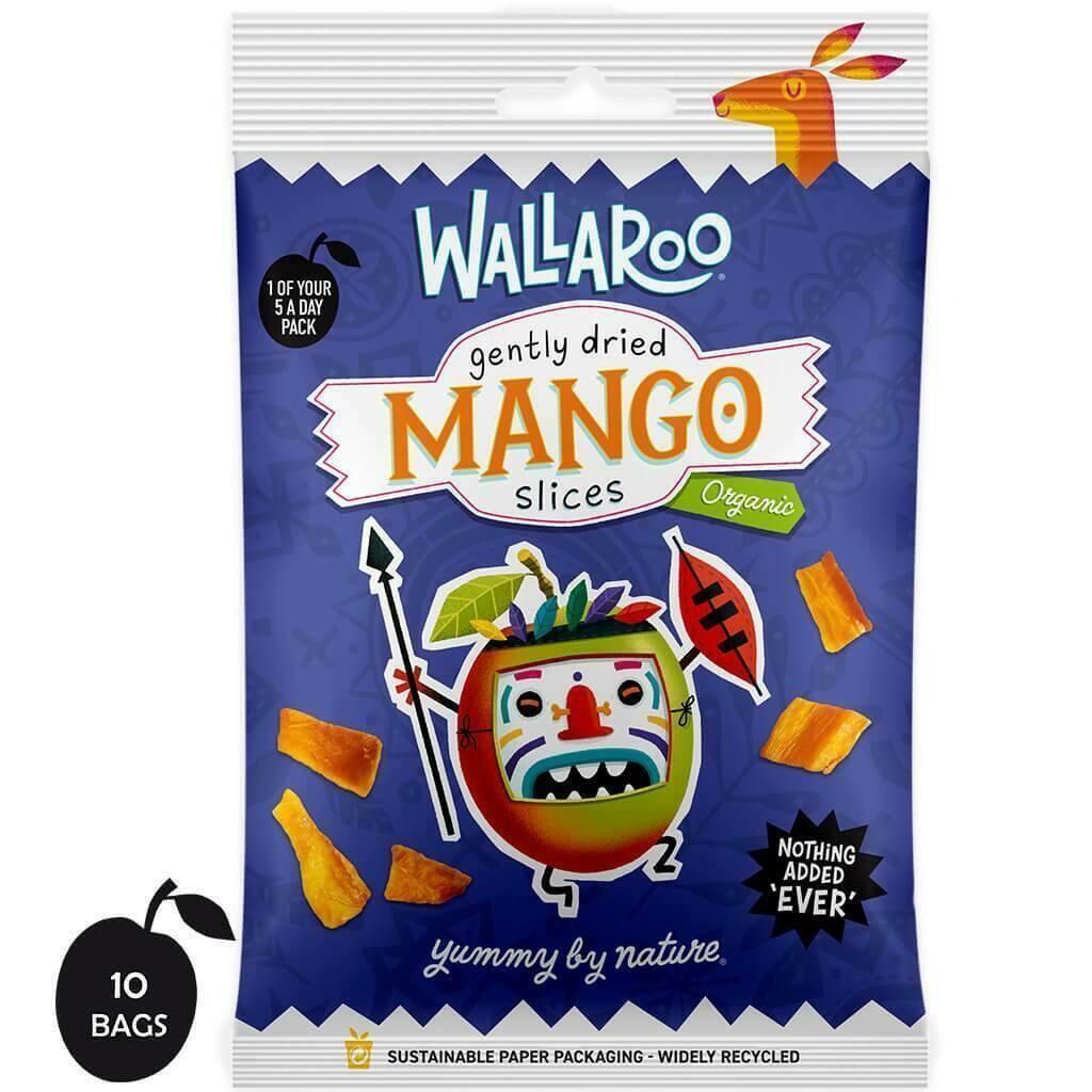 Organic Gently Dried Mango Slices 10 x 30g